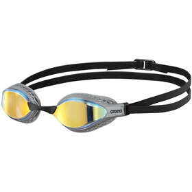 arena Airspeed Mirror Okulary pływackie, yellow copper/silver